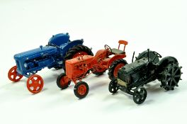 Trio of 1/32 Handbuilt Model Tractor issues comprising Fordson Major, Allis Chalmers and Fordson