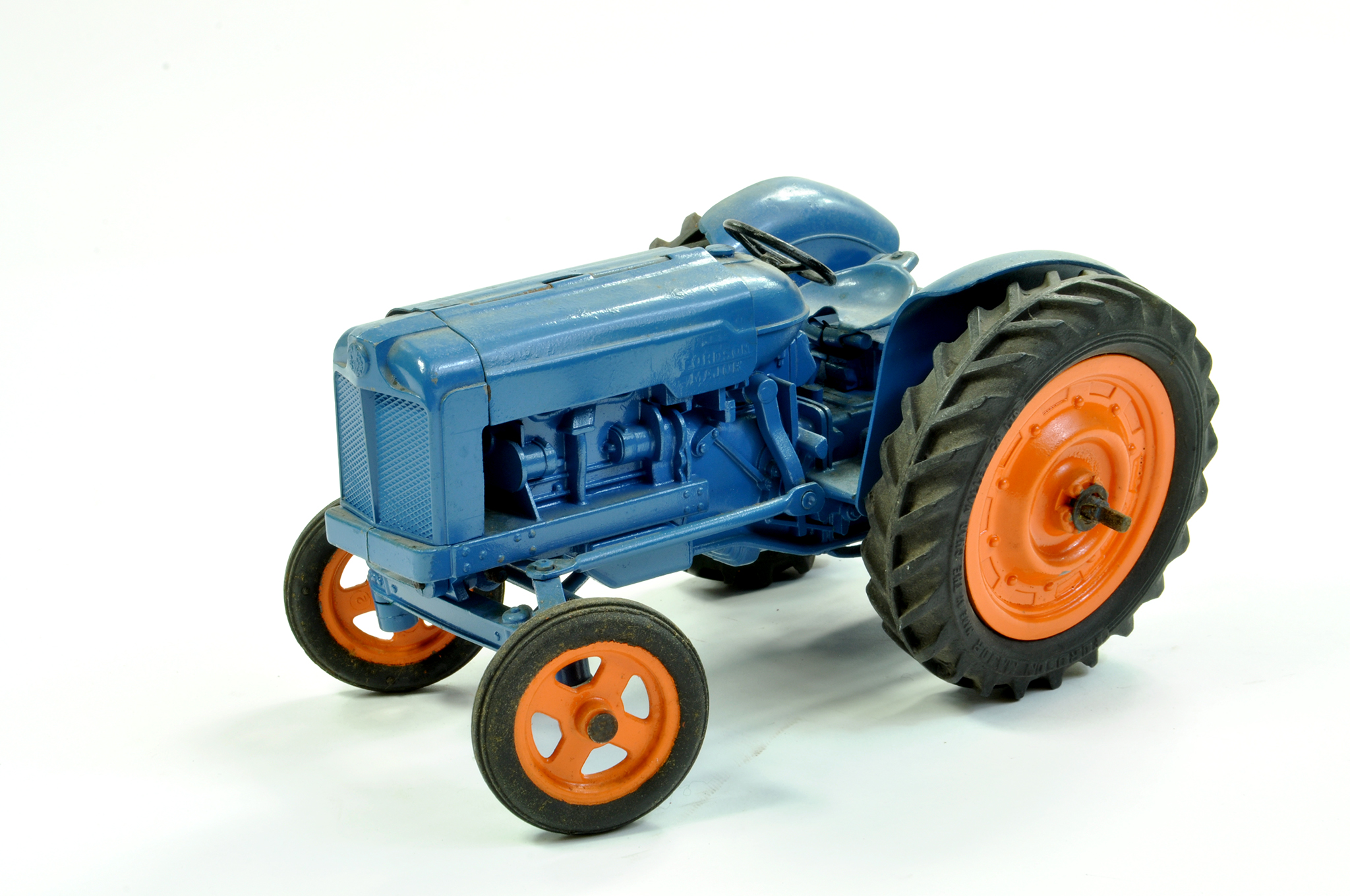 Lot 18 - Chad Valley 1/16 Farm issue comprising Fordson Major Tractor. Mechanical example however has seized.