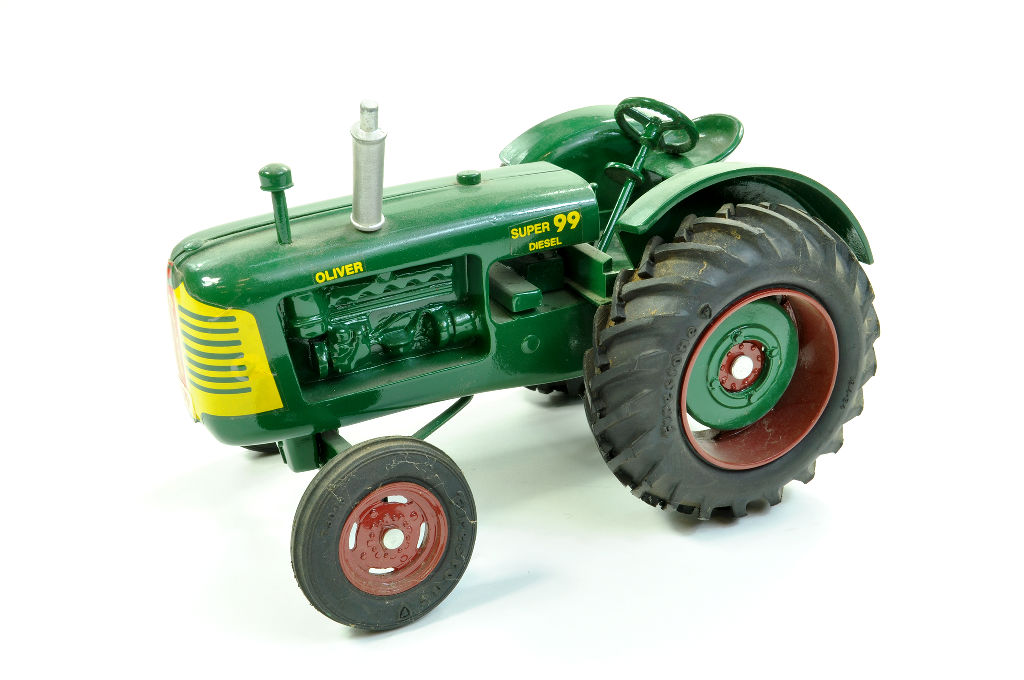 Lot 6 - NB&K 1/16 Diecast (Heavy) Oliver Super 99 Diesel Tractor. Produced for the 1988 Michigan Toy Show,