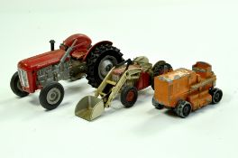 Trio of interesting older issue farm related items comprising Milton Massey Ferguson 35 Tractor,