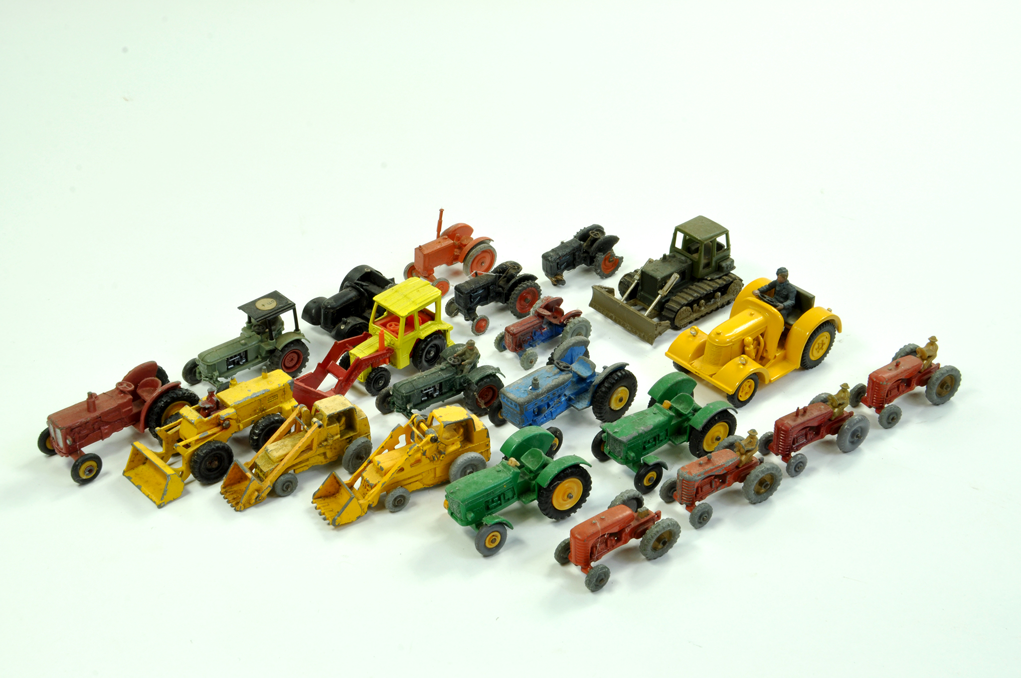 Lot 24 - An interesting large group of smaller scale farm issues comprising Matchbox, Corgi, Britains, Wiking