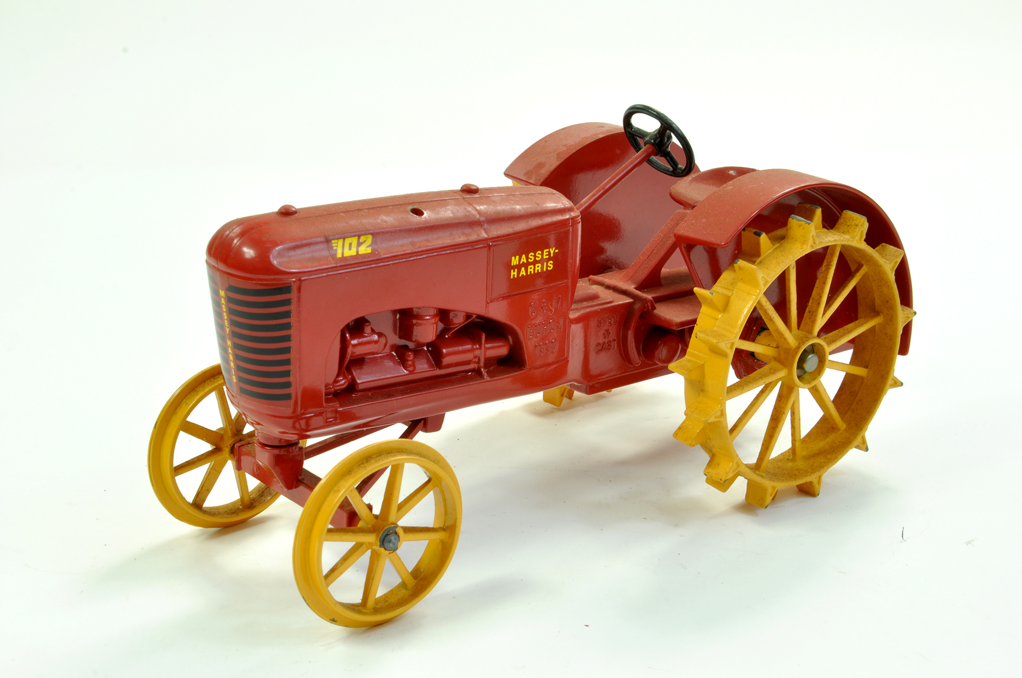 Lot 28 - Spec Cast 1/16 diecast Farm issue comprising Massey Harris 102 Tractor on Metal Wheels. Complete