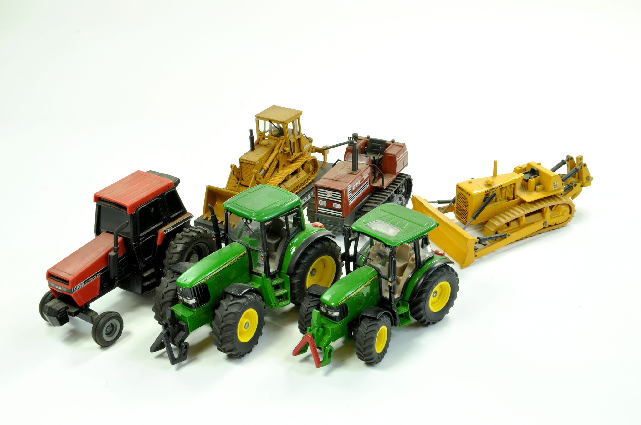 Lot 23 - Assorted Farm and Construction Diecast comprising Duo of Siku John Deere Tractor issues, Ertl