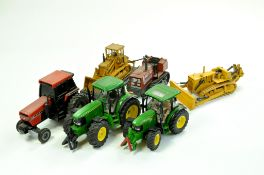 Assorted Farm and Construction Diecast comprising Duo of Siku John Deere Tractor issues, Ertl