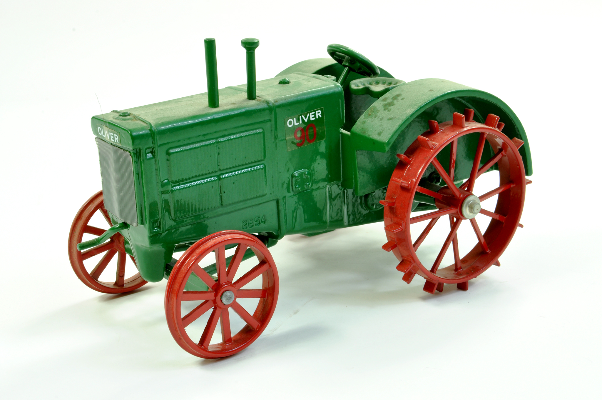 Lot 12 - Scale Models 1/16 diecast farm issue comprising Oliver 90 Vintage Tractor on metal wheels. A