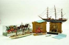 An interesting group of Waterline - Ship Models comprising Schiffsmodel Brixham Trawler plus