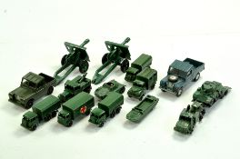 A group of Military Diecast comprising mostly Matchbox but to include Corgi and Britains also.