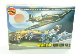 Airfix Plastic Model kit comprising 1/72 WWII RAF Airfield Set. Complete. Ex Shop Stock. Enhanced