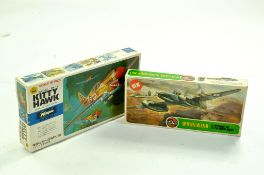 Airfix Plastic Model kit comprising 1/72 Whirlwind plus Hasegawa 1/72 Kitty Hawk. Both Sealed.