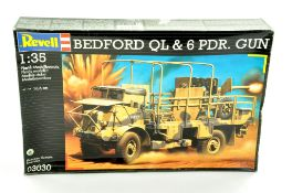 Revell Plastic Model kit comprising 1/35 Bedford QL and Gun. Complete. Ex Shop Stock. Enhanced