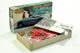 Aurora (Vintage) Plastic Model Kit comprising Austin Healey 3000. Appears complete and in well