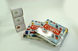 Trio of Novelty Ceramic Cars plus two volumes of 'A Century of Cars. Enhanced Condition Reports: