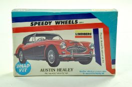Lindberg (Vintage) Plastic Model Kit comprising Speedy Wheels Series Austin Healey Snap Fit Kit.