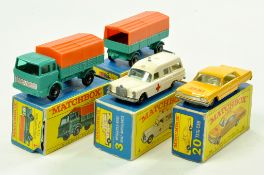 Matchbox Regular Wheels Boxed issues comprising No. 1 Mercedes Truck and Trailer plus Mercedes