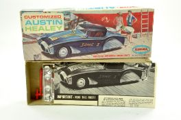 Aurora (Vintage) Plastic Model Kit comprising Customized Austin Healey. Appears complete and in well
