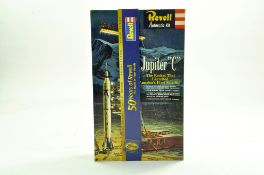 Revell plastic model kit comprising 50th Anniversary Jupiter C Rocket. Complete. Enhanced