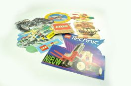 A group of Lego Point of Sale items including hanging signs etc. Enhanced Condition Reports: We