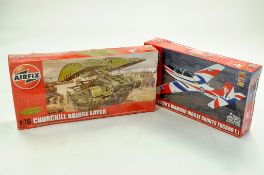 Airfix Plastic Model kit comprising 1/72 Tucano T1 plus 1/76 Churchill Bridge Layer. Both Sealed.