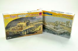 Dragon Plastic Model Kit comprising 1/72 Tiger I Tank plus one other. Sealed and Complete.