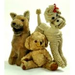A tremdous trio of vintage issues including Merrythought bear, in addition to Handmade loop felt
