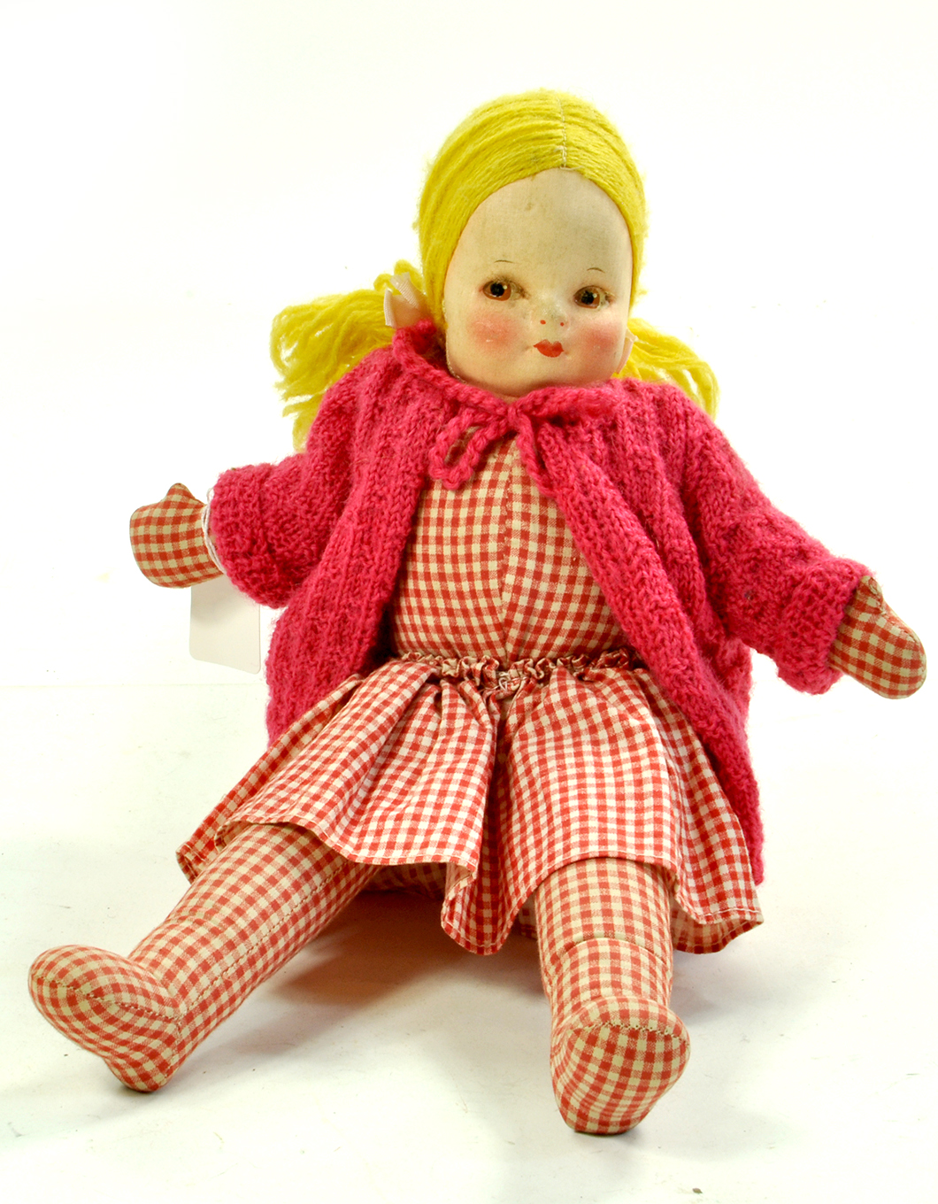 "A 13"" Vintage Cloth / Rag Doll. Chad Valley, Wellings or Similar. Generally Good. Enhanced Condition"