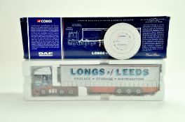 Corgi Diecast Truck issue comprising No. CC13202 DAF XF Curtainside in the livery of J long. Appears