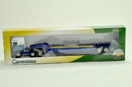 Cararama Diecast Truck issue comprising 1/50 Scania Low Loader in the livery of Stobart Rail. Very