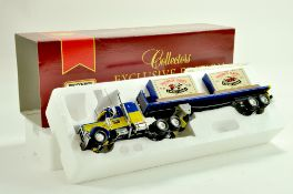 Matchbox Diecast Truck issue comprising Peterbilt Truck with Trailer plus duo of boxed Matchbox
