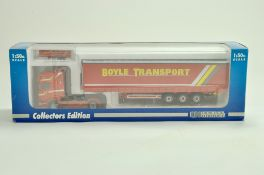 Universal Hobbies Diecast Truck issue comprising 1/50 Scania Curtainside in the livery of Boyle