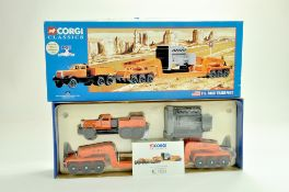 Corgi Diecast Commercial truck issue comprising No. 55301 Diamond T980 with Girder Trailer in the