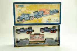 Corgi Diecast Truck issue comprising No. 55201 Diamond T Heavy Haulage Set in the livery of