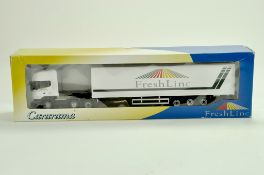 Cararama Diecast Truck issue comprising 1/50 Scania Curtainside in the livery of Freshlinc. Very