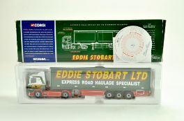 Corgi Diecast Truck issue comprising No. 76602 Scania Box Trailer in the livery of Eddie Stobart.