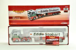 Corgi Diecast Truck issue comprising No. CC15207 MAN TG Tanker in the livery of Eddie Stobart.