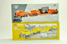 Corgi Diecast Commercial truck issues, Heavy Haulage duo comprising No. 17603 Siddle Cook Scammell