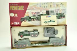 Corgi Diecast Commercial truck issue comprising No. 55303 Diamond T980 with low loader in livery