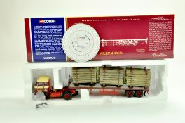 Corgi Diecast Truck issue comprising No. CC13102 Volvo F88 Log Carrier in the livery of William