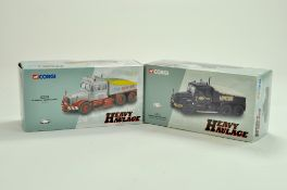 Corgi diecast truck issues comprising Heavy Haulage issues, No. CC12302 Scammell Contractor, Sunters