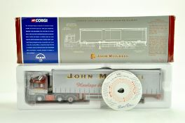 Corgi Diecast Truck issue comprising No. CC12001 MAN Curtainside in the livery of John Mitchell.