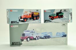 Corgi Trio of Heavy Haulage Truck issues. Hills, Cadzow and Wynns. Generally good in boxes, some