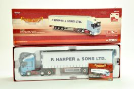 Corgi Diecast Truck issue comprising No. CC15006 Iveco Stralis Fridge trailer in the livery of P