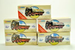 Corgi Diecast Truck issues x 5 comprising classic series, mostly Eddie Stobart. Appear very good