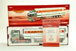 Corgi Diecast Truck issue comprising No. CC14013 Volvo Fridge Trailer in the livery of HE Payne.