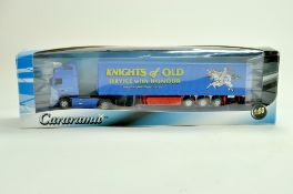 Cararama Diecast Truck issue comprising 1/50 Volvo Curtainside in the livery of Knights. Very good