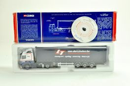 Corgi Diecast Truck issue comprising No. CC12407 Volvo Curtainside in the livery of Van Der