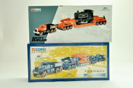 Corgi Diecast Commercial truck issues, Heavy Haulage duo comprising No. 31007 Annis and Co Diamond T