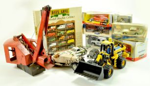 Misc. diecast group, various issues including Triang Crane, plus Display Case (boxed), Land rover