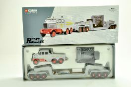 Corgi Diecast Truck issue comprising No. 17602 Scammell Contractor Heavy Haulage Set in the livery