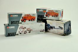 Corgi Diecast Truck issues comprising various heavy haulage sets. Generally good, with boxes, some