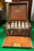 A Victorian mahogany apothecary's cabinet,
